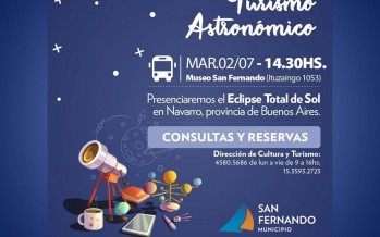 Turismo astronómico: viaje a Navarro para ver el eclipse total de sol