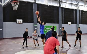 Se disputó en el Poli 1 un encuentro de básquet interpolideportivos