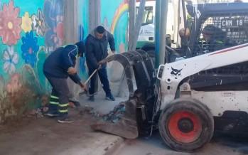 Operativo de limpieza y ordenamiento en el barrio San Jorge