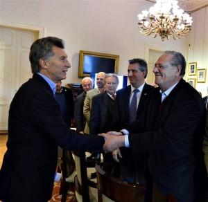El presidente Mauricio Macri y Beto Fantini