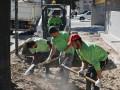 Renovación de veredas en Quintana y Perón
