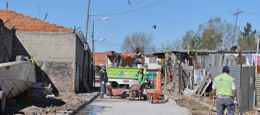 Se culminó la pavimentación de la calle De Marzi del barrio Alvear