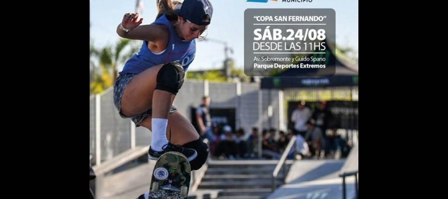 El sábado se disputará la final de skate de la Copa San Fernando en el Parque de Deportes Extremos