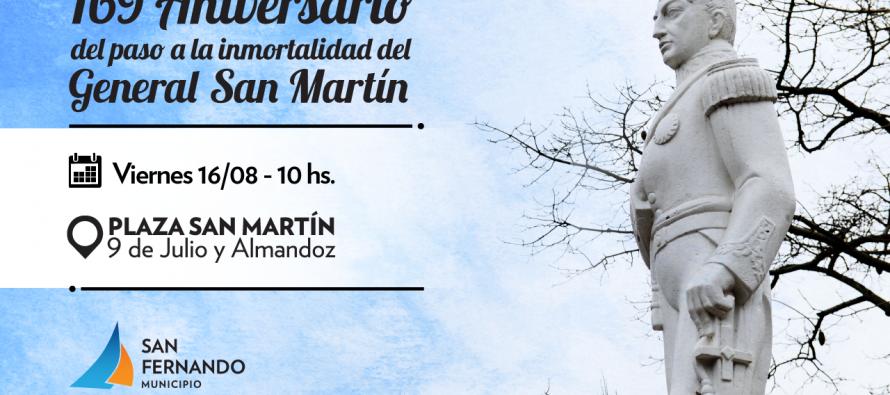 Aniversario 169° del paso a la inmortalidad del General San Martín