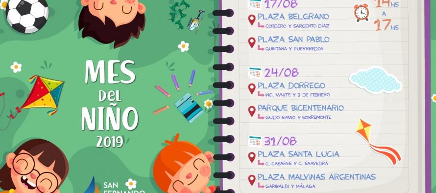 En agosto las plazas de nuestra ciudad festejan el 'Mes del Niño'