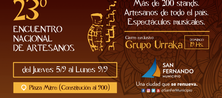 Llega el 23° Encuentro Nacional de Artesanos a la Plaza Mitre