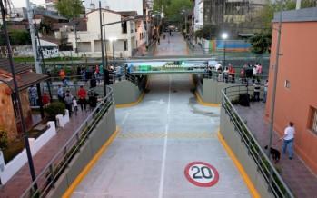 Quedó inaugurado el túnel de la calle Quirno Costa