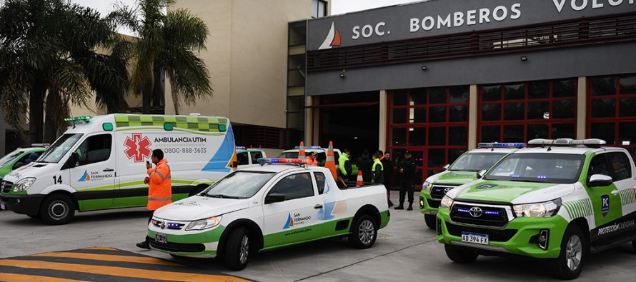 Una flota de vehículos de nuestra ciudad brindó asistencia a La Matanza tras el fuerte temporal