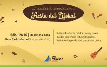 Este sábado llega la 23° Fiesta del Litoral a la Plaza Carlos Gardel