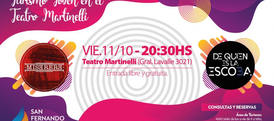 """Turismo Joven: se presentarán """"De Quién es la Escoba"""" y """"Miserere"""" en el Teatro Martinelli"""