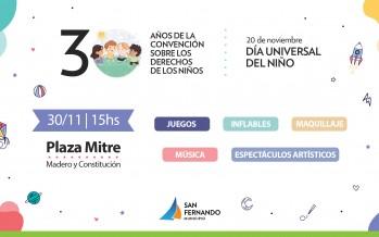 San Fernando celebra el Día Universal del Niño en la Plaza Mitre
