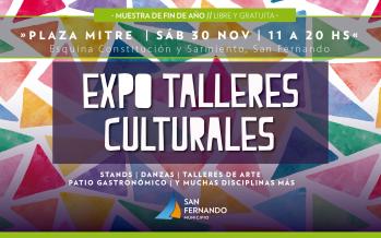 Llega la Expo Talleres Culturales 2019 a la Plaza Mitre