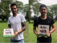 El Patito Galmarini y Cachete Morales se sumaron a una campaña de lucha contra el cáncer infantil