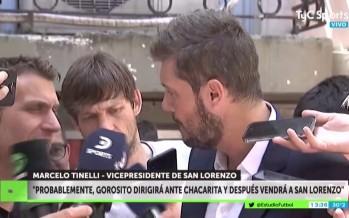 Tinelli admitió que Gorosito está a un paso de convertirse en DT de San Lorenzo