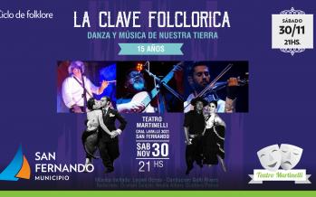 Este sábado llega La Clave Folklórica al Teatro Martinelli