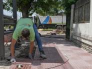 Renovación de las veredas a lo largo de la calle Blanco Encalada