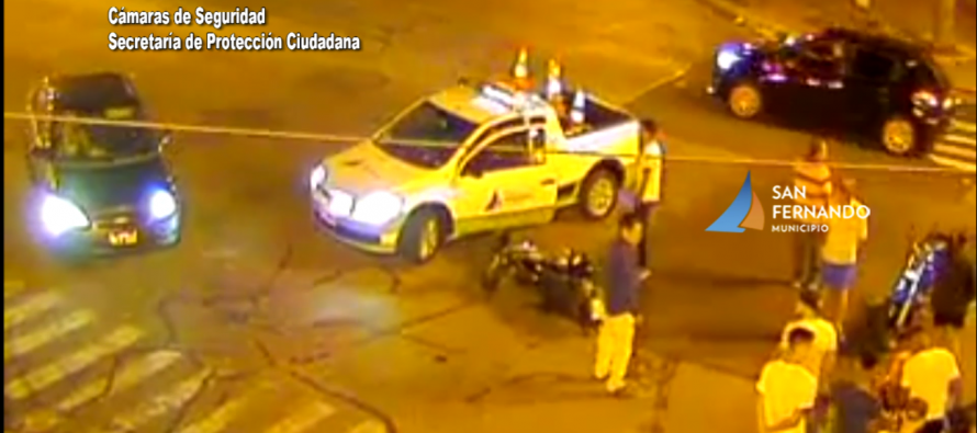 Las cámaras permitieron brindar asistencia en un fuerte choque en Avellaneda y Arroyo Cordero