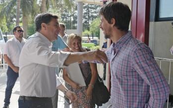 Juan Andreotti y Daniel Arroyo supervisaron la entrega de las tarjetas alimentarias en nuestra ciudad