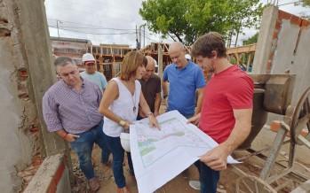 Avanza la construcción a nuevo del Jardín N° 909 del barrio Fate