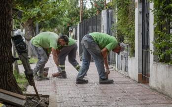 Renovación de las veredas de la calle Blanco Encalada