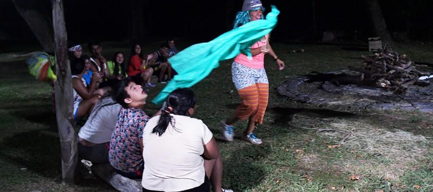 Camping nocturno de la Colonia de Discapacidad en el Poli 3