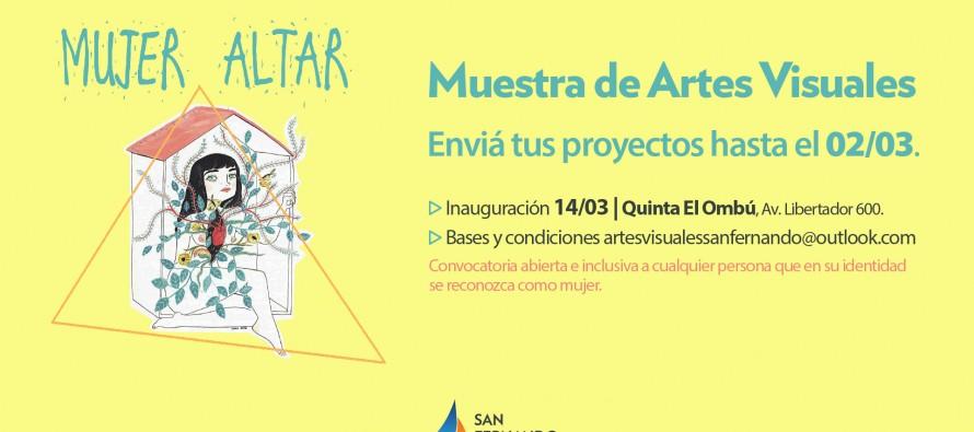 "Abrió la convocatoria para la muestra de artes visuales ""Mujer Altar"""
