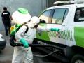 Desinfección en patrullas y móviles de seguridad de nuestra ciudad que trabajan durante la cuarentena