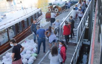 Envío de alimentos de primera necesidad a las escuelas de Isla para ayudar en la cuarentena