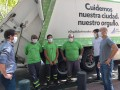 Reconocimiento a los trabajadores encargados de la recolección de residuos por su labor en la cuarentena