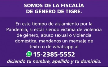La Fiscalía de Género de Tigre habilitó una línea de WhatsApp para denuncias por violencia de género