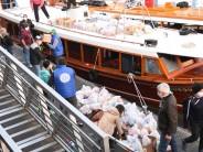 Operativo solidario para entregar el Servicio Alimentario Escolar a las escuelas del Delta