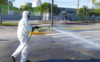 Operativo de prevención contra el coronavirus y el dengue en el barrio San Jorge