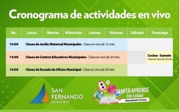 SanFer aprende en casa: clases educativas en vivo por redes sociales