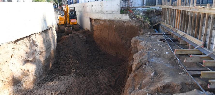 Victoria: Avanza la obra del túnel de la calle Martín Rodríguez