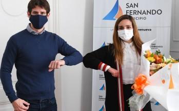 Juan Andreotti reconoció a la primera médica de nuestra ciudad que donó plasma para pacientes con coronavirus