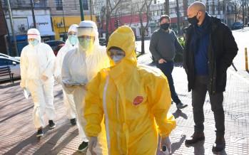 Operativo de detección de coronavirus en Santamarina