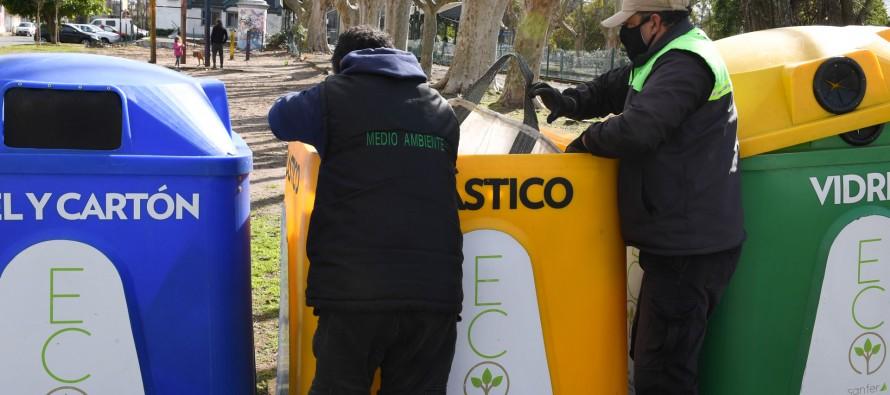 EcoSanfer: con más de 300 puntos verdes y 50 campanas continúan las tareas de reciclaje