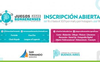 Abierta la inscripción para disciplinas culturales de la edición virtual de los Juegos Bonaerenses 2020