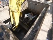 Renovación de hormigón y veredas en Crisol y limpieza de un canal subterráneo desde Brandsen hasta Sobremonte