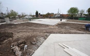 Avanza la construcción de una plaza en el barrio San Martín