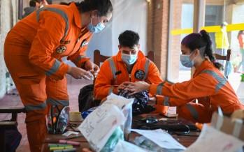El trabajo de los voluntarios en un centro de aislamiento de nuestra ciudad