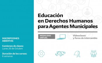 La Subsecretaría de Derechos Humanos de la Provincia lanza curso de formación para los municipios