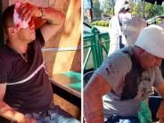 Violento ataque contra el ex boxeador Pigu Garay y el líder de la barra de Tigre