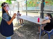 Volvieron las clases presenciales en los centros educativos municipales con protocolos, grupos reducidos y al aire libre