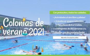 Comenzaron las inscripciones online para las colonias de verano 2021