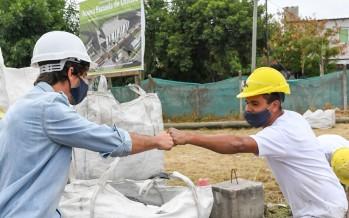Comenzó la construcción de la nueva Escuela Municipal de Oficios en el barrio San Jorge