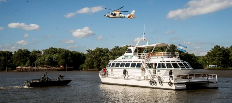 La ministra de Seguridad supervisó un simulacro de rescate del grupo Albatros en nuestra ciudad