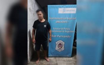 Detienen a un hombre acusado por violencia de género que quiso escapar de la policía a nado