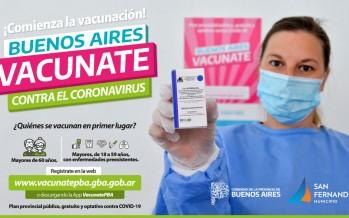 Comenzó la vacunación contra el Covid-19 a mayores de 60 años y grupos de riesgo