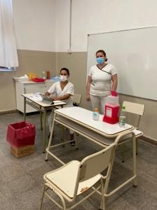 Operativo de vacunación Escuela 1